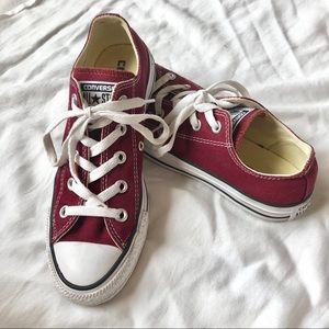 Maroon Converse Shoes